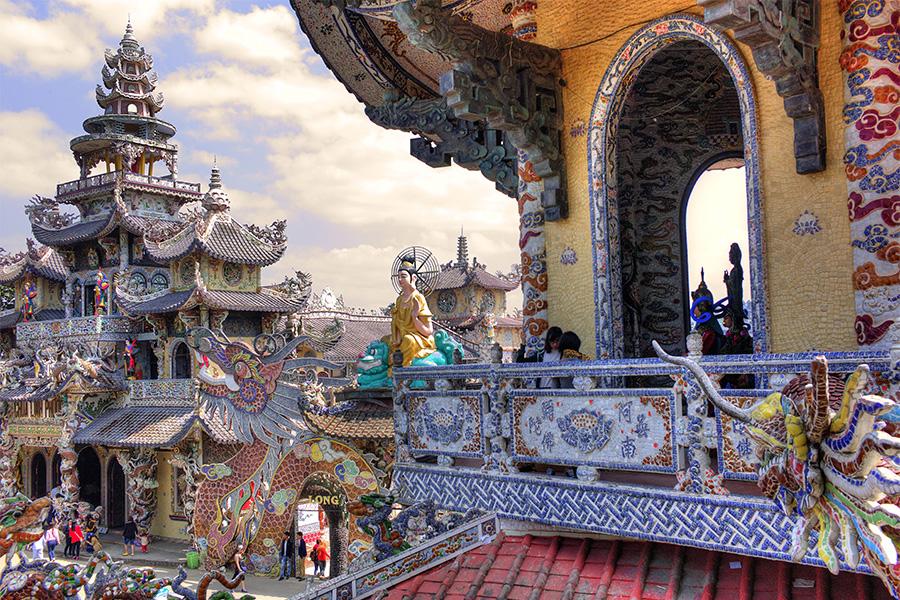 La pagode Linh Phuoc - Dalat