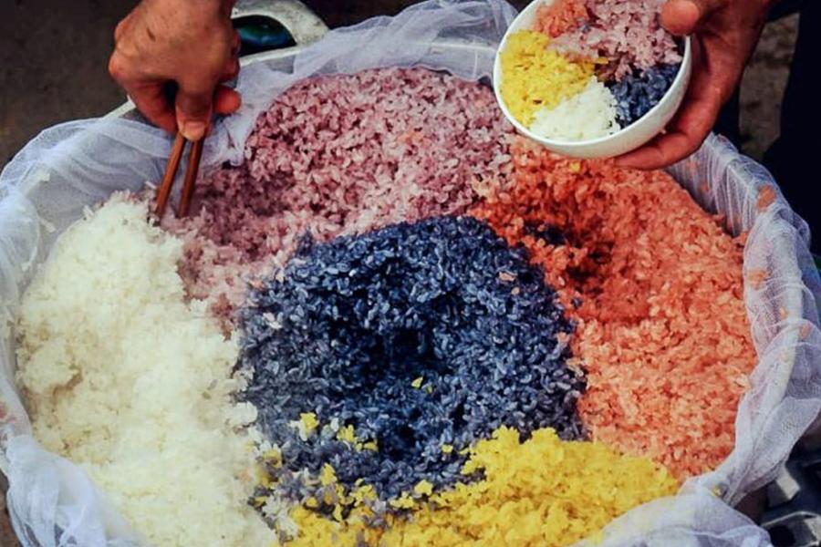 Riz gluant aux 5 couleurs - Ha Giang