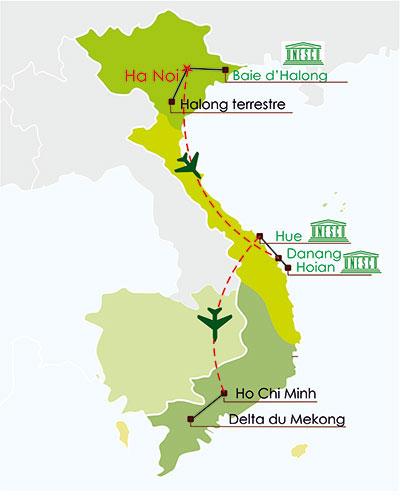 circuit vietnam 10 jours - découverte panorama