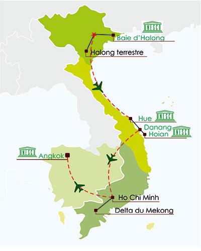 Combine Vietnam Cambodge 18 jours